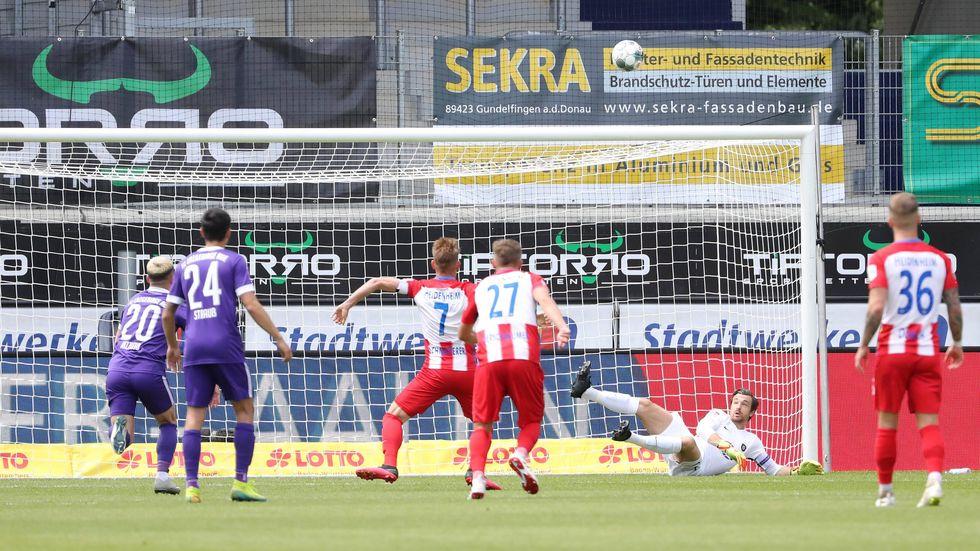 Die Veilchen kassieren in Heidenheim eine 0:3-Pleite.
