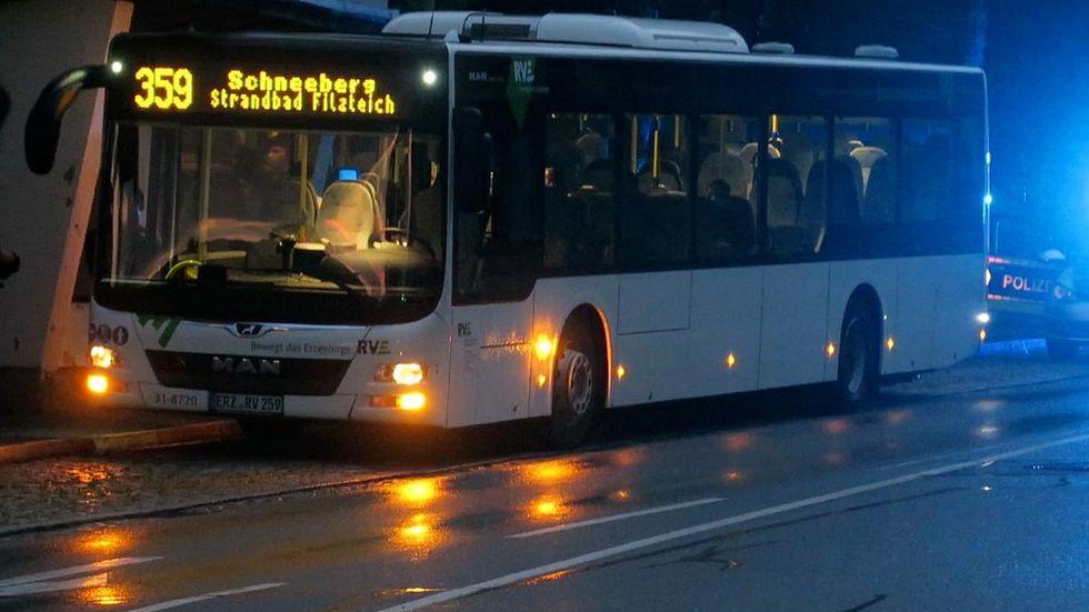 In diesem Bus geschah der Angriff.