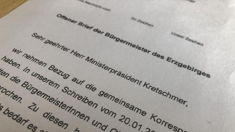 In 17 Seiten appellieren die Bürgermeister an den Ministerpräsidenten.
