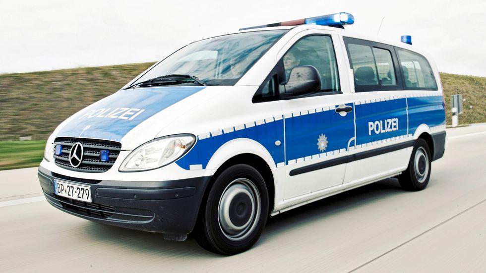 Ein Fahrzeug der Grenzpolizei.