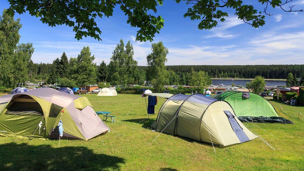 Auch der Campingpark Greifenstein lock Touristen ins Erzgebirge.