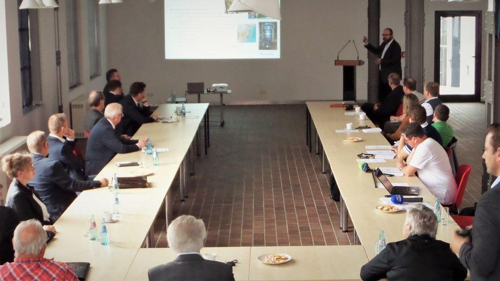"""""""Zukunftsfabrik Lausitz"""" - das Projekt wurde in der Energiefabrik Knappenrode vorgestellt."""