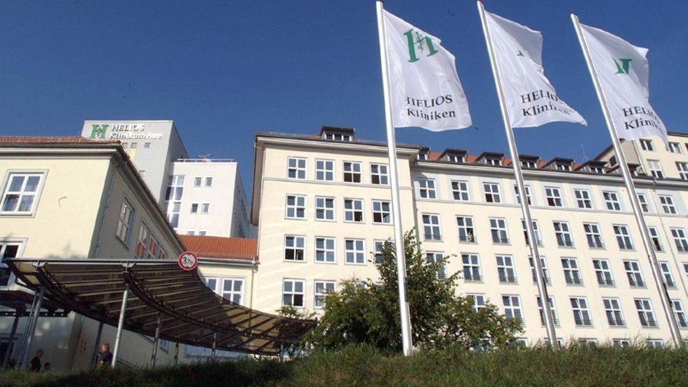 Das Helios Klinikum in Aue. Foto: dpa.