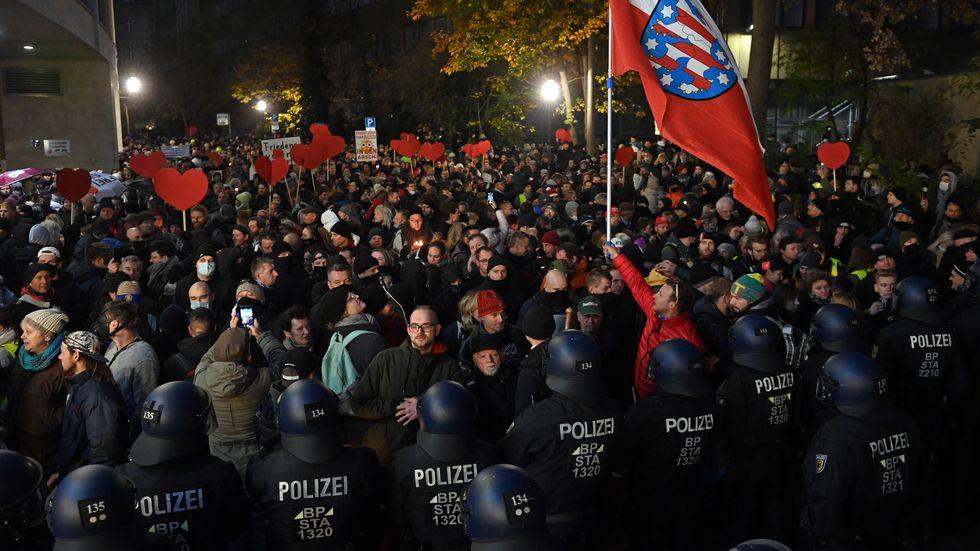 Demo der Gegner der Corona-Politik in Leipzig
