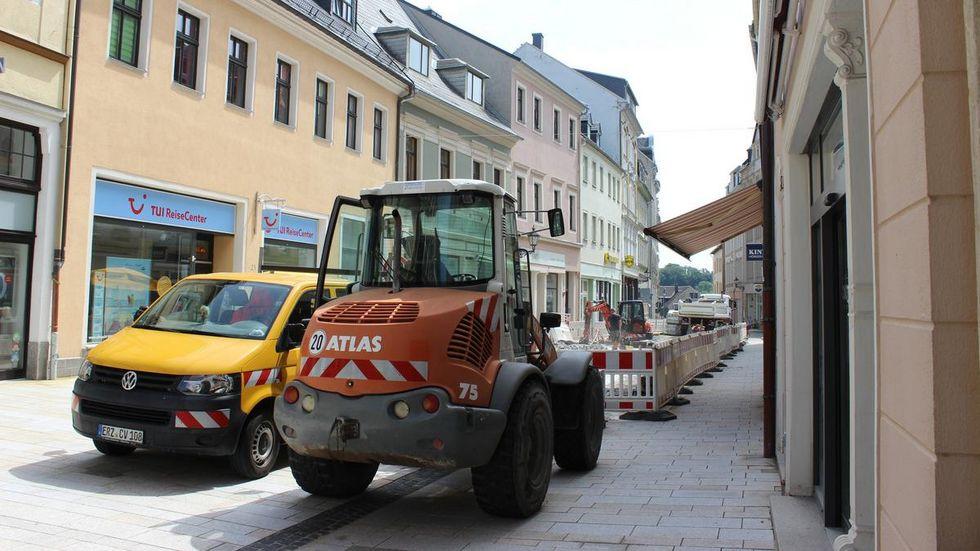 Die Sanierung der Buchholzer Straße geht voran.