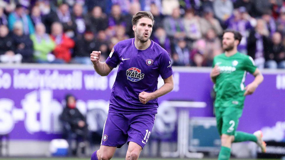 Philipp Zulechner hatte Aue gegen Bochum mit 1:0 in Führung geschossen.