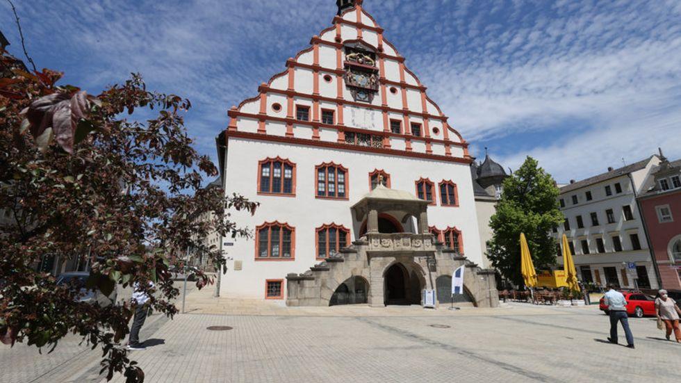 Das Plauener Rathaus.